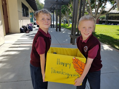 4th Graders Enthusiastic about Thanksgiving Outreach